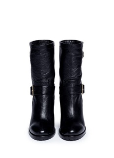JIMMY CHOO'Dart' leather biker boots