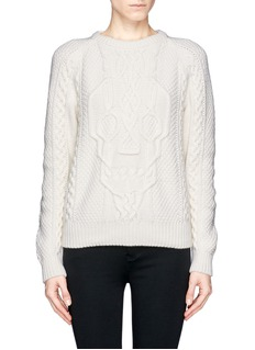 ALEXANDER MCQUEEN Skull cable knit sweater