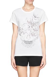 ALEXANDER MCQUEENBird skull print cotton T-shirt