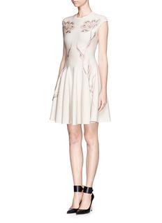ALEXANDER MCQUEENFloral jacquard wool dress