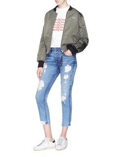 Tortoise 'Savanna' ripped cropped jeans