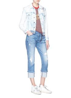 Tortoise 'Herma' roll cuff jeans