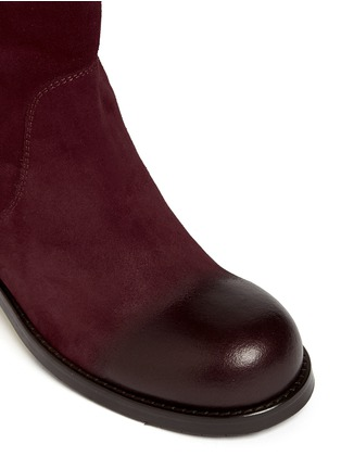 Detail View - Click To Enlarge - Jimmy Choo - 'Disguise' buffed toe suede boots