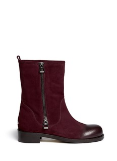 JIMMY CHOO 'Disguise' buffed toe suede boots