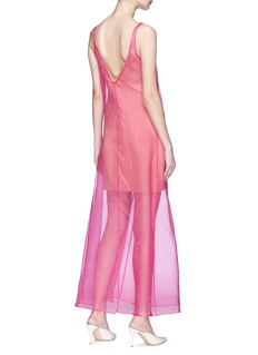 STAUD Costa双层设计真丝欧根纱连衣裙
