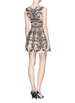 Back View - Click To Enlarge - Alexander McQueen - Floral jacquard knit dress