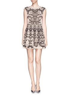 ALEXANDER MCQUEEN Floral jacquard knit dress