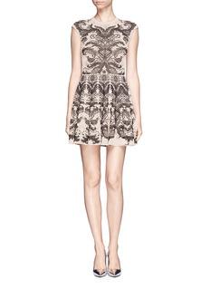 ALEXANDER MCQUEENFloral jacquard knit dress