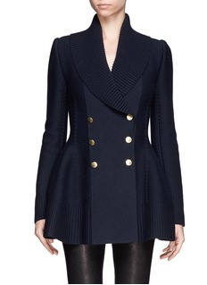 ALEXANDER MCQUEENShawl collar double breasted wool-cashmere jacket