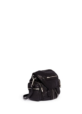 Front View - Click To Enlarge - Alexander Wang  - 'Mini Marti' washed lambskin leather three-way backpack