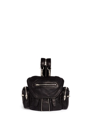 Main View - Click To Enlarge - Alexander Wang  - 'Mini Marti' washed lambskin leather three-way backpack