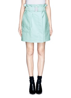 3.1 PHILLIP LIM Cinched waist skirt with buckle belt