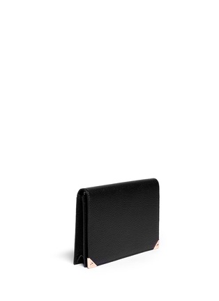 Front View - Click To Enlarge - Alexander Wang  - 'Prisma' leather flap pouch