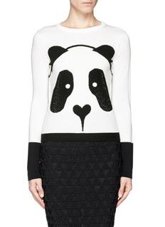 ALICE + OLIVIARhinestone panda sweater