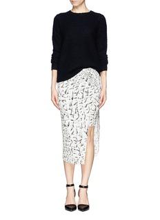 HELMUT LANGStrata print drape front jersey skirt