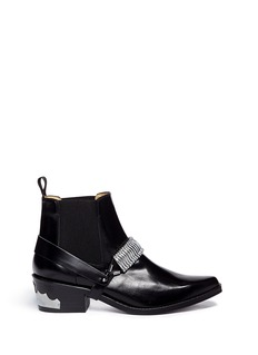 TOGA ARCHIVES Detachable harness leather Chelsea boots