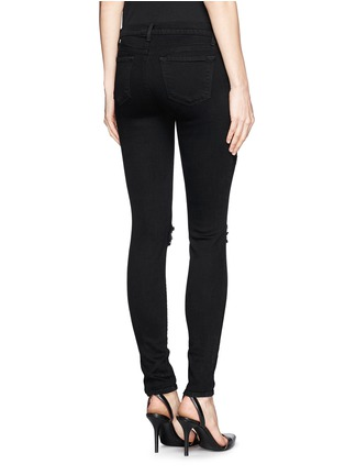 Back View - Click To Enlarge - J Brand - 'Super Skinny' distressed jeans