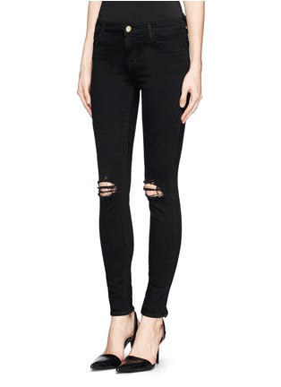 Front View - Click To Enlarge - J Brand - 'Super Skinny' distressed jeans