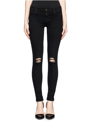 Main View - Click To Enlarge - J Brand - 'Super Skinny' distressed jeans