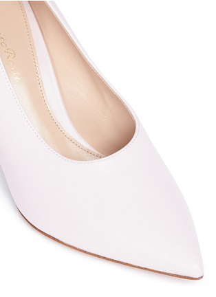 Detail View - Click To Enlarge - Gianvito Rossi - 'Muriel' leather choked-up pumps