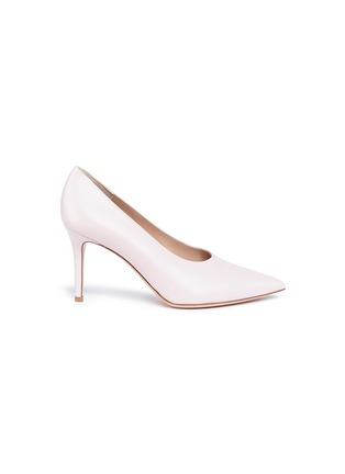 Main View - Click To Enlarge - Gianvito Rossi - 'Muriel' leather choked-up pumps