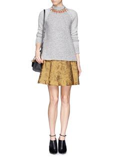 ALICE + OLIVIA'Vernon' lace pleat skirt