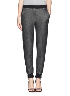 T BY ALEXANDER WANG Colourblock melangé twill sweatpants
