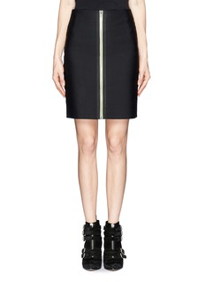 ALEXANDER WANG  Exposed contrast zip double face skirt