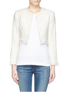 ALICE + OLIVIAMetallic tweed box jacket