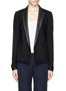 THEORY Leandria' goat leather lapel jacket