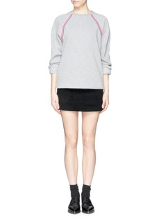 T BY ALEXANDER WANG Heathered fleece-lined sweatshirt