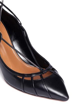 Detail View - Click To Enlarge - Aquazzura - 'Seduce Me' leather lace-up pumps