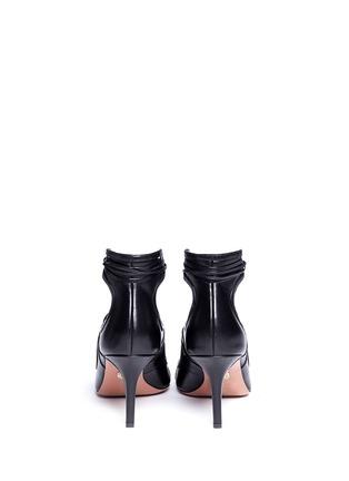 Back View - Click To Enlarge - Aquazzura - 'Seduce Me' leather lace-up pumps