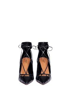 AQUAZZURA'Seduce Me' leather lace-up pumps