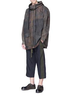 Ziggy Chen Patchwork print cotton hoodie