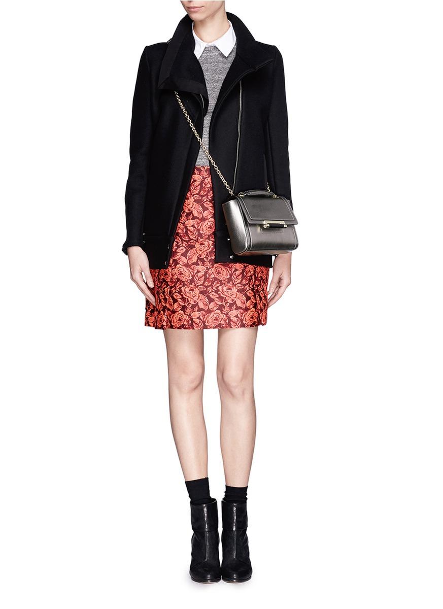 Diane Von Furstenberg 440 Metallic Leather Shoulder Bag 77