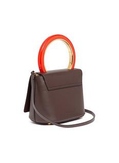 Marni 'Pannier' ring handle leather crossbody flap bag