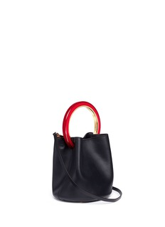 Marni 'Pannier' ring handle leather crossbody bag