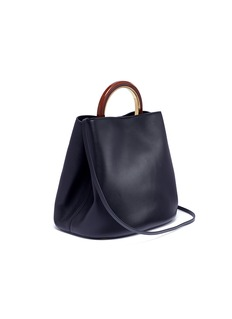 Marni 'Pannier' ring handle large leather bag