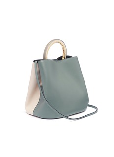 Marni 'Pannier' ring handle colourblock large leather bag