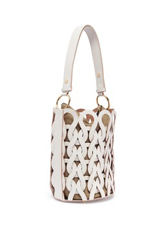 Marni Woven leather openwork bucket bag