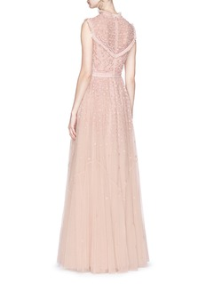 Needle & Thread 'Daisy' floral embellished tulle gown