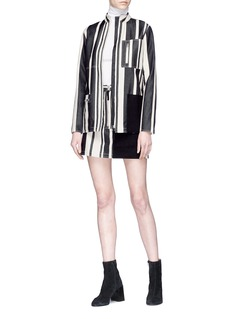 Acne Studios 'Hilaria' zip pocket colourblock panel stripe mini skirt