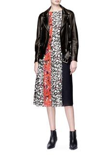 Acne Studios 'Jovana' floral print patchwork crepe dress