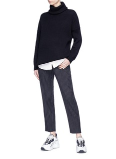 Acne Studios 'Piphy Chunky' colourblock back hem rib knit turtleneck sweater