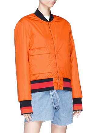 Detail View - Click To Enlarge - Acne Studios - 'Mills Face' reversible bomber jacket