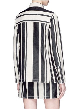 Back View - Click To Enlarge - Acne Studios - 'Aiylin' zip pocket colourblock panel stripe safari tunic