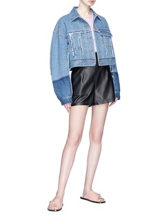 Acne Studios 'Kremi' frayed cropped denim jacket
