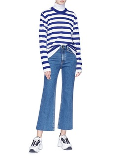Acne Studios 'Nalon Striped Face' patch sweater