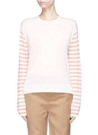 Main View - Click To Enlarge - Acne Studios - 'Cohrie' stripe sleeve Merino wool sweater